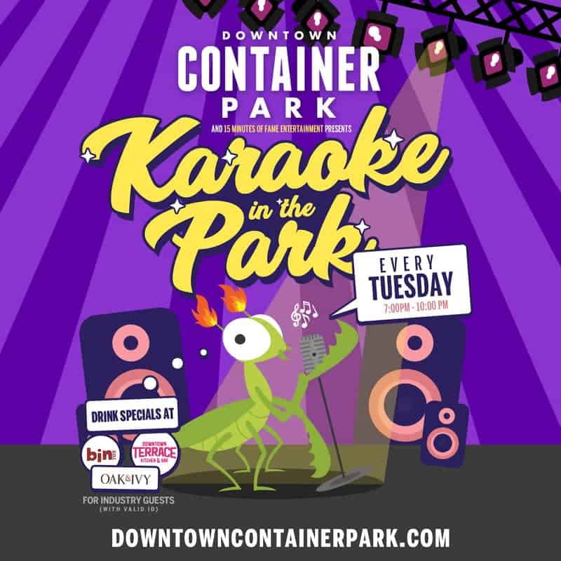 Downtown Container Park Karaoke